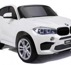 BMW X6 M, 2 személyes elektromos kisautó, 12V, fehér
