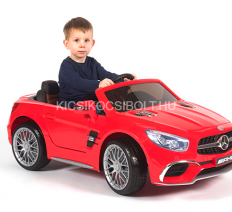 Mercedes SL65 12V piros elektromos kisautó LCD panel