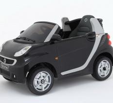 Smart Fortwo fekete Elektromos kisautó