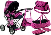 eng_pl_Doll-Bogie-and-Stroller-Alice-with-Carrier-Bag-and-Bedding-Pink-with-Black-Dots-3821_2